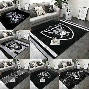 Las Vegas Raiders Area Rug Fluffy Rug Living Room Floor Mat Anti-Skid Carpet