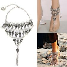 Silver Barefoot Sandal Ankle Chain Toe Ring Summer Ladies Indian For Women Lady