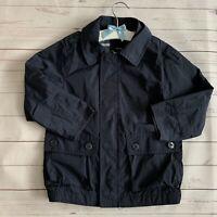 Boys 4 Years - Rain Mac - GAP Navy Blue Water Resistant Lined Coat Jacket