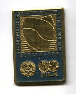old FILA WRESTLING CHAMPIONSHIP MEDAL East Germany Berlin 1970 Ringen plaque