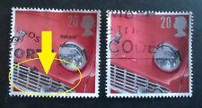 GB ERROR/VARIETY USED 20P SG1945 1996 STAMP BLACK OUTLINE SHIFT ON SILVER BUMPER