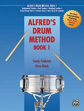 """ALFRED'S DRUM METHOD"" INSTRUCTION MUSIC BOOK 1 BEGINNING METHOD BRAND NEW SALE!"