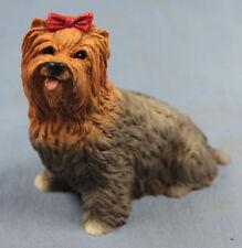yorkshire terrier figur hund castagna hundefigur  alabaster 8357
