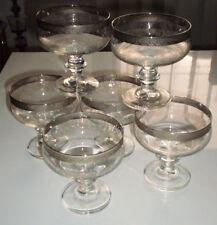 6  Sektschalen 6Sektglas Champagnerglas mit echtem Platinrand Zieseliert