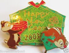Disney M&P Happy New Year Chip & Dale LE Japan Pin