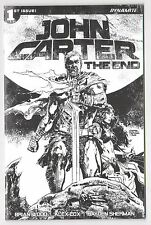 JOHN CARTER THE END #1 1:50 Hardman B&W Incentive Variant Dynamite 2017 NM