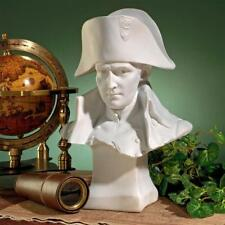 French Emperor Napoleon Bonaparte Bonded Marble Design Toscano Sculptural Bust