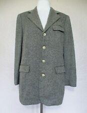 Vintage Ralph Lauren Blue Label Jacket Blazer Size 8 Women black gray woven silk