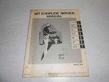 1971 2 hp Genuine EVINRUDE JOHNSON Outboard Repair & Service Manual 2hp
