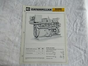1970 CAT Caterpillar G398 natural gas engine brochure