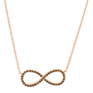 0.17ct. Brown Diamond Infinity Pendant Necklace With Chain