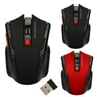 2.4GHz Optical Computer Wireless Gaming Mouse 1200DPI 6 Buttons 10M Range SZ