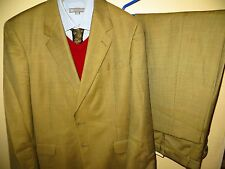 Aquascutum of London Mens Green Wool Suit Coat Jacket Blazer 42 R Pant 36 X 29