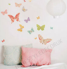 Beautiful Floral Butterfly Wall Stickers Girls Decor Mural Art Decal Wallpaper