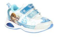 Disney Frozen Sneaker Toddler Girl's Shoes - Light Up, Blue/white Size 10