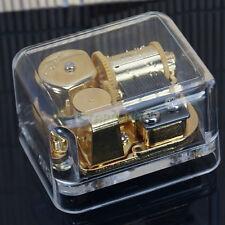 Unique Gift! Acrylic Gold Windup Movement Clockwork Music Box Elfen Lied Lilium