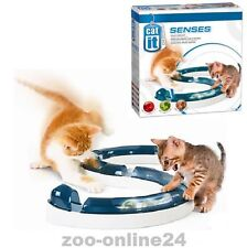 Catit Cat'it DESIGN SENSES Spiel-Schiene Katzen-Spielzeug mit Ball, 110 cm lang