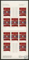 Canada 2339a Booklet MNH Montreal Canadiens Hockey