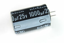 6pcs Nichicon HD 1000uF 25v 105C Radial Electrolytic Capacitor Low ESR
