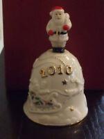 Lenox 2010 Christmas Annual Musical Bell Santa Claus Plays Deck The Halls $58