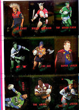 1995 Dynamic Rugby League Out Of This World Uncut Sheet (10 cards)- Rare!!