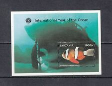 FISH/MARINE/CLOWNFISH - Tanzania  1998 OVERPRINTED sheet of 1-(SC 1697)-MNH-B166