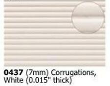 Slaters 0437 0.5mm x 300mm x 174mm - 7mm Corrugated Plastikard - 1st Class Post