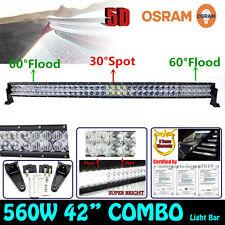 42INCH 5D 560W Osram LED Combo Curved Spot Flood Work Light Bar TRUCK PICKUP UTE