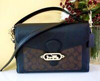NWT Coach Jade Messenger Crossbody Bag Signature Canvas, Im/Brown/Black, 81992