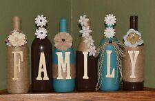 handmade wine bottle decor
