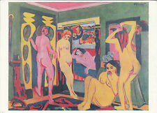 Ansichtskarte - Ernst Ludwig Kirchner / Badende im Raum