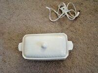 Vintage Electrical Gravy Serving Bowl With Lid White Porcelain Works Japan  Mint