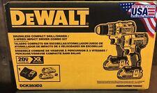 NEW Dewalt DCK283D2 20V Brushless Compact Drill Impact Driver Combo Kit