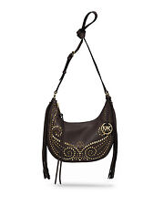 NWT Michael Kors Handbag Rhea Small Studded Leather Shoulder Bag, Purse $358