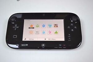 GENUINE OFFICIAL BLACK NINTENDO WII U GAMEPAD