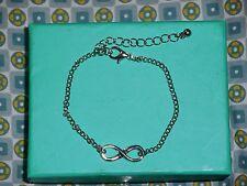 Bracelet infini infinity eternite signe one direction 8 fashion argenté NEUF