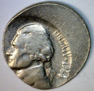 1964 ERROR Jefferson Nickel OFF CENTER Coin O/C #1  NR
