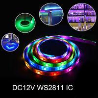 5m 5050 WS2811 DC12V RGB Multicolor 30LEDs/m 60LEDs/m Strip Light dreamy decorat