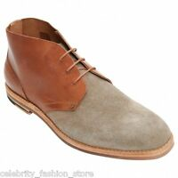 H By Hudson Mens Tan Suede Leather Lace Up Chukka Houghton Shoes Boots 6 - 10