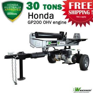 BWM 30Ton Hydraulic Log Splitter Wood Cutter -Honda GP200 Engine(LS30HGP)