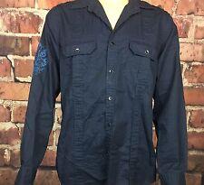 Men's Express Salvation Honor Mercy Long Sleeve Button Down Shirt size Medium