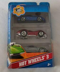 Hot Wheels 2011 3-Pack with exclusives. Porsche Cayman S, Porsche Carrera GT