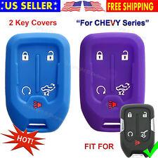 Silicone Cover Entry Fob Case Protector Chevrolet Chevy Silverado 2019 2020 Key