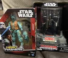 JOB LOT Star Wars Darth Vader Die Cast & Hero Mashers Greedo Figurines ,Toys