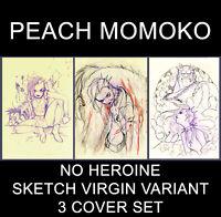 No Heroine Peach Momoko Sketch Virgin Variant 3 Pack Set 9/25 Preorder NM