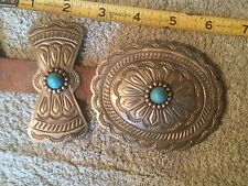 Navajo concho belt large nickel silver all hand stamped
