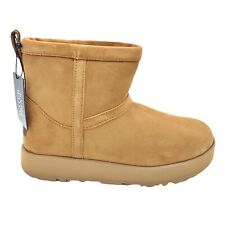 UGG CLASSIC MINI WATERPROOF CHESTNUT SUEDE SHEEPSKIN WOMEN'S BOOTS SIZE US 6