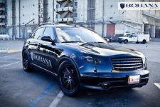 Rc10 Rohana 20x9 +35 20x10 +40 5x114 Black Rim Fit Infiniti Fx45 2007 Staggered