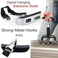 50KG Digital Weighing Luggage Scales Handheld Electronic UK Travel Suitcase Bags