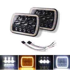"7in 500W 7x6"" 5x7"" LED Headlight Hi Lo Beam DRL For Chevrolet Jeep Cherokee XJ"